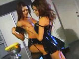 Charmane Star and Gina Ryder : lesbians in the kitchen